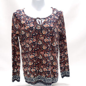 "Lucky Brand ""Live in Love"" Boho Floral Tunic"